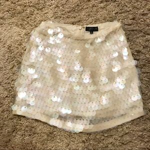 Topshop mermaid sequin mini skirt